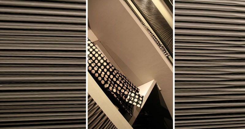 Rénovation d'un appartement ancien modernisé par parquet noir, dressing portes bois gougés - Julie Béringué Architecte d'intérieur à Toulouse